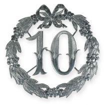 Rocznica 10 w kolorze srebrnym