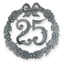 Rocznica numer 25 w kolorze srebrnym