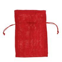 Worki jutowe czerwone 16cm x 24cm 10szt.