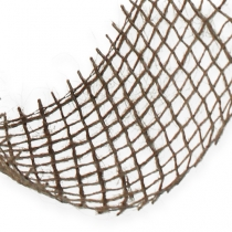 Wstążka jutowa brązowa 5cm 40m