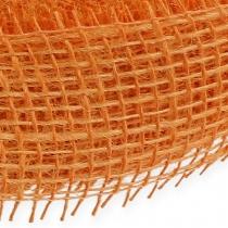 Wstążka jutowa jasnopomarańczowa 5cm 40m