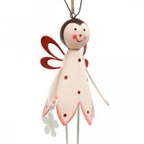Chrząszcz do zawieszenia, dekoracja wiosenna, metalowy chrząszcz z kwiatem, zawieszka dekoracyjna 2szt.