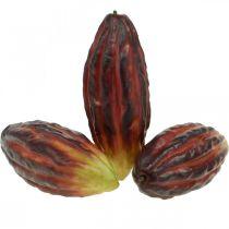 Cocoa Fruit Sztuczna dekoracja wystawa sklepowa fioletowo-zielona 17cm 3szt
