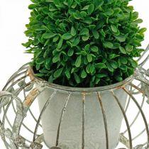 Doniczka, dekoracyjna doniczka do kawy, metalowa doniczka do sadzenia roślin L15,5cm Ø11,8cm
