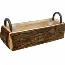 Sadzarka Kora Sadzarka z uchwytami Naturalne drewniane pudełko