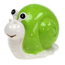 Ślimak Ceramiczny 12cm Zielony 4szt.