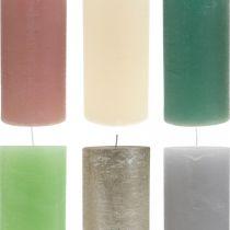 Świece filarowe barwione na różne kolory 85×200mm 2szt.