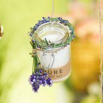 Świeca w szkle Deco z pokrywką Czysta Natura Wosk Świeca Wosk pszczeli Oliwa z oliwek