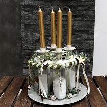 Świecznik na tealight kremowy Ø9cm H9cm