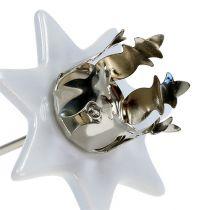 Świecznik Gwiazda Biały Srebrny Ø6cm 4szt.