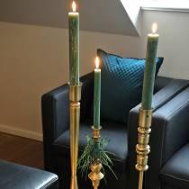 Świecznik metalowy kolor mosiądz antyczny wygląd Ø8cm H53,5cm