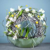Gałąź kwiatu wiśni biała sztuczna 103 cm