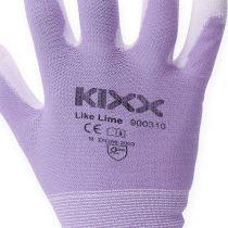 Rękawice ogrodowe Kixx białe, liliowe rozm. 8