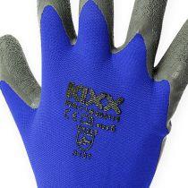Kixx Rękawice ogrodnicze nylonowe Rozmiar 8 Niebieski, Czarny
