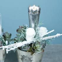 Zakonserwowane róże średnie Ø4-4,5cm białe 8szt