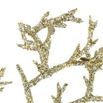 Gałąź koralowa z miką jasnego złota 3szt