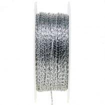 Sznurek srebrny Ø1mm 100m