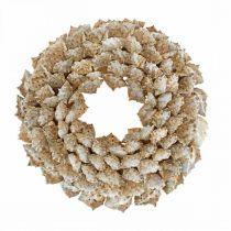 Wieniec dekoracyjny ślimaki Morskie dekoracje wianek na drzwi ślimaki morskie Ø25cm
