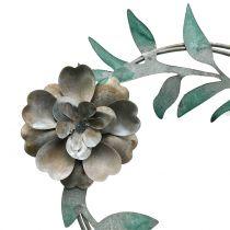 Wieniec ogrodowy z kwiatów zatyczkowych metalowy H63cm