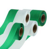 Wstążki do wieńców Mozaika zielono-biała vers. Szerokość 25m