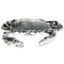 Deco Crab Antyczne Srebro 12cm