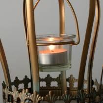 Deco Crown Tealight Holder Gold Ø19cm H29cm