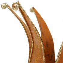 Korona złota rdzawa Ø6,5/8,5cm 2szt. w komplecie