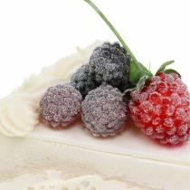 Tort malinowy sztuczny 10cm