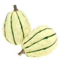 Dynia dekoracyjna kremowa, zielona 11cm 6szt.