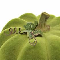Dekoracyjna dynia flokowana mech zielony 32cm