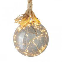 LED Globus wewnętrzny z liną Ø14cm 30L Ciepła biel