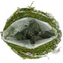 Dekoracja grobu kula winorośl Moss Green, White Washed Ø20cm