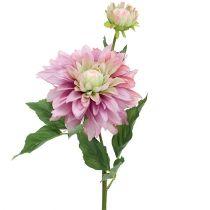 Kwiat sztuczny Dahlia Purple 63cm