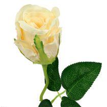 Kwiaty sztuczne Róża kremowa Ø6cm L50cm 6szt.