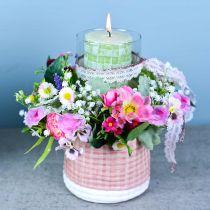 Bukiet sztucznych kwiatów z Ranunculus i Bellis Pink, White Ø20cm