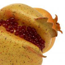 Sztuczny owoc granatu z pestkami Ø6cm - Ø7cm L18cm