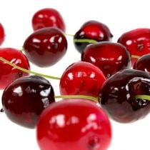 Sztuczne owoce słodkie wiśnie mix Ø2,5cm 24szt.