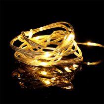 Łańcuch świetlny LED 20 wewnątrz 2m ciepły biały zegar na baterie