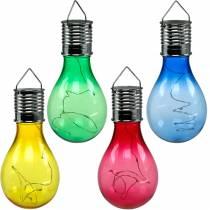 Dekoracja Ogrodu Żarówka Solarna LED Kolorowa Asortyment 15cm 4szt.