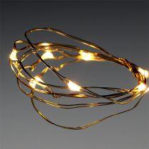 Łańcuch świetlny LED 10s na baterie ciepłobiały