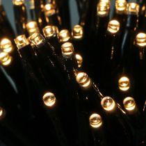 Łańcuch świetlny LED 144 czarny, ciepły biały do zastosowań zewnętrznych 1,2m
