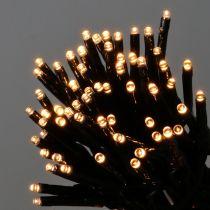 Łańcuch świetlny LED czarny, ciepły biały 448s do zastosowań zewnętrznych 3m
