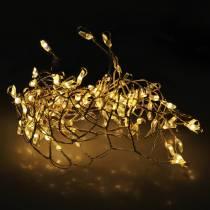 LED Fairy Lights ciepły biały srebrny 100cm 100L na baterie