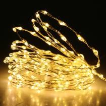 Fairy Lights LED Light Wire Warm White 189LED 3m