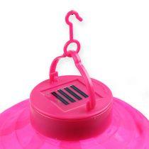 Lampion LED z kolorem słonecznym 20 cm różowy