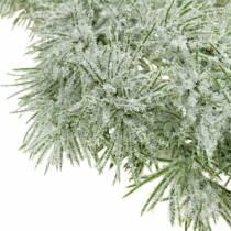 Girlanda modrzewiowa z brokatem i śniegiem 160 cm