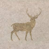 Bieżnik stołowy filcowy jeleń natura 30cm x 120cm