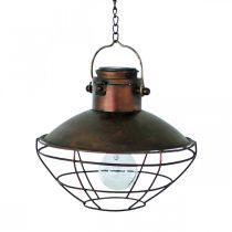 LED Lampa Wisząca, Lampa Wisząca Rustykalny, zasilany energią słoneczną Ø24,5cm H24cm