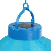 Lampion LED z kolorem słonecznym 20 cm niebieski