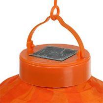 Lampion LED z kolorem słonecznym 20 cm pomarańczowy